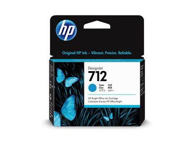 HP 712 29-ml Cyan DesignJet Ink Cartridge (3ED67A)