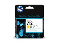 HP 712 29-ml Yellow DesignJet Ink Cartridge (3ED69A)