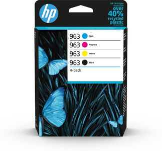 HP 963 CMYK Original Ink Cartridge 4-Pack (6ZC70AE#301)
