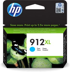 HP 912XL High Yield Cyan Original Ink Cartridge (3YL81AE)