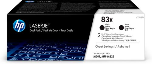 HP TONER CARTRIDGE 83X BLACK DUAL PACK (CF283XD)