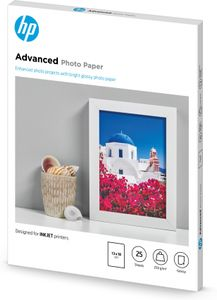 HP Advanced glättat fotopapper - 25 ark/13 x 18 cm utfallande (Q8696A)