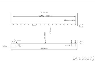 MULTIBRACKETS Extension Pipe 3 piece pipe solution 3000mm (7350022735507)