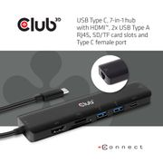 Club 3D Club3D USB-7-in1-HUB USB-C > HDMI/2xUSB/USB-C/RJ45/SD/MSD retail