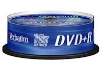 VERBATIM DVD+R 4.7Gb 16x spindle (25)