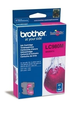 LC980M Blekkpatron for ca. 260 A4 sider, magenta
