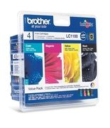 Brother LC1100V Valuepack 4 blekkpatroner,  sort + 3 farger