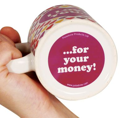 Bottoms Up Mugs - I Love You ... For Your Money!