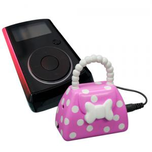 Mini Handbag Speaker, Høyttaler til MP3 og iPod, festes på nøkkelknippet