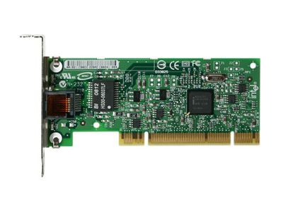 Intel PRO/1000 GT Desktop Adapter - Nettverksadapter - PCI lav profil - Gigabit Ethernet (PWLA8391GTLBLK)