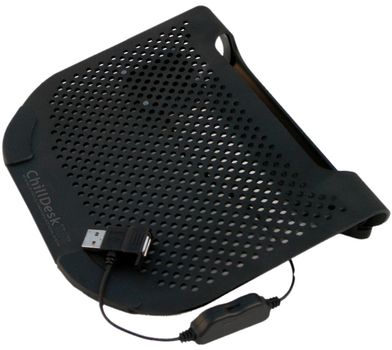 """CHILL ChillDesk Mini Netbook Cooling Stand for 6-12"""" Notebooks,  Removable Silent Fan stepless speed"""