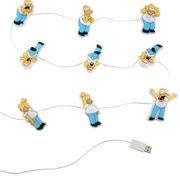 GADGET Simpsons Illuminating Monitor Lights, 9 lysende mini-Homers med sugekopper for skjerm/ kabinett