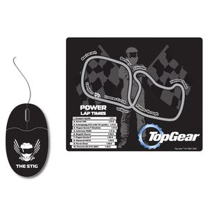 GADGET Top Gear's The Stig Optical Mouse & Racetrack Mat Set (TG6)
