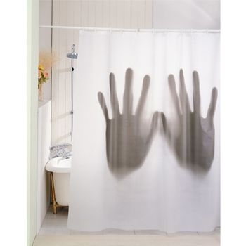 GADGET Scary Shower Curtain