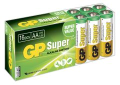 GP Super LR6 AA 1.5V Batteri Homebox 16 stk (15A-2B16)