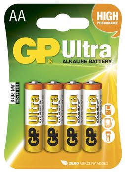 GP Ultra LR6 AA 1.5V batteri 4 stk (151001)