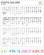 Craftwell Image Card Fonts Galore