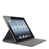 Cinema Swivel Leather Folio AutoWake Magnets, iPad2/ iPad3/ iPad4,  Brun