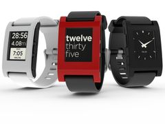 Pebble E-Paper Watch Arctic White for iPhone and Android