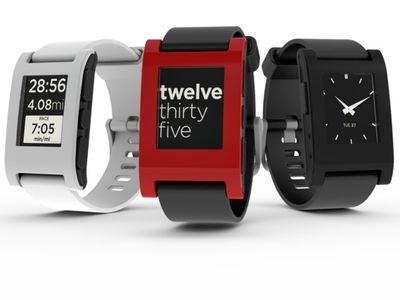 Pebble E-Paper Watch Arctic White for iPhone and Android (PEBBLE-WHITE)