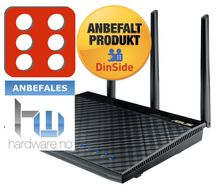 ASUS RT-AC66U 802.11ac Dual-Band Wireless-AC1750 Gigabit Router, demobrukt (90IG0300-BU2000-Demo)
