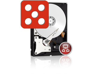 "WD Red 4TB NAS Harddisk 3.5"" SATA6, IntelliPower,  64MB Cache (WD40EFRX)"