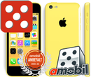 "APPLE iPhone 5c Yellow 4"" Retina, 8MB, 16GB, A6 prosessor,  3G, iOS 7 - Uten abonnement - Demovare"