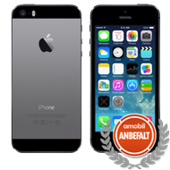 "iPhone 5s Space Gray 16GB (uten abonnement) 4"" Retina, 8MB, A7 prosessor,  4G/LTE, iOS 7"