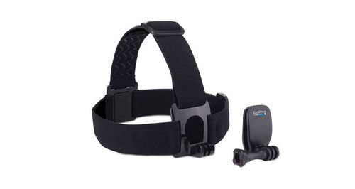 GoPro Head Strap + QuickClip - Støttesystem - for HD HERO; HD HERO2; HERO+ LCD; HERO3; HERO3+; HERO4 Session; HERO6; HERO7