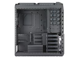 Cooler Master HAF X Big Tower Sort Vifter: 1x 230mm Front, 1x 200mm Topp, 1x 230mm Side, 1x 140mm Bak, Rød LEDs (RC-942-KKN1)