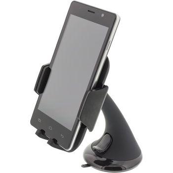 Deltaco Universal bilholder til mobiltelefon Sugekoppfeste,  1 kuleledd, 360° rotasjon (ARM-230)
