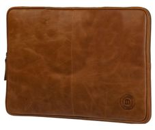 "Leather sleeve 16"" - Golden tan"
