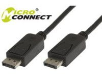 MICROCONNECT DisplayPort 20 M/M 1,8m Black Displayport version 1.1