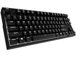 Cooler Master CM Storm QuickFire Rapid-i Gaming Keyboard, USB, PS2, Nordic, Mechanical CHERRY MX RED, NKRO, ARM, White Backlight,  5 Modes (SGK-4040-GKCR1-ND)