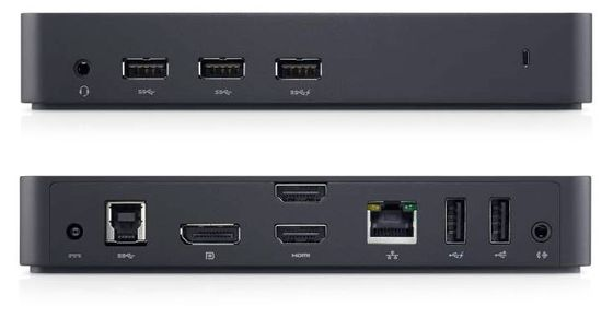 D3100 USB-docking 4K UHD For tre skjermer