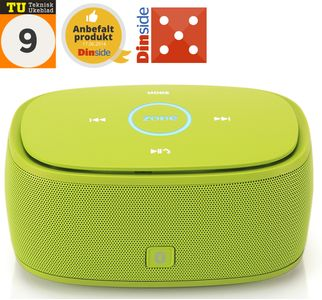 Zone of Norway Box Bluetooth høyttaler,  lime (950559-lime)