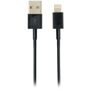 Deltaco USB - Lightning 1m Svart Synk/ladekabel til iPod/iPhone/iPad, MFI, USB Type A han - Lightning han