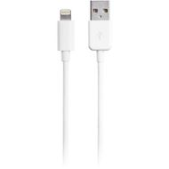 USB - Lightning 1m Hvit, Synk/ ladekabel til iPad, iPhone, iPod, USB Type A han - Lightning han