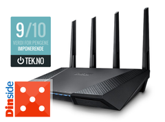 ASUS RT-AC87U Nordic Dual-band Wireless-AC2400 Gigabit Router, 802.11ac, 2334 Mbps, med støtte for 3G- og 4G-modem