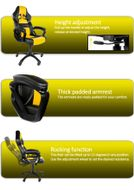 Monza Gaming Chair Yellow