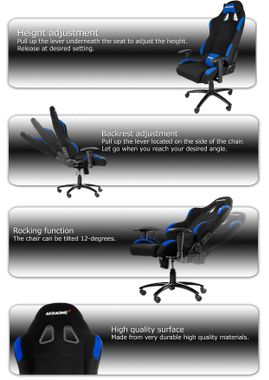 Gaming Chair Black Blue