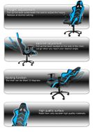 Player Gaming Chair - Black Blue