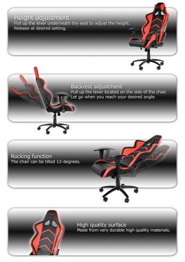 Player Gaming Chair - Black Red