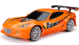NEW BRIGHT TOYS Corvette C7R RC Chargers Orange 1:12