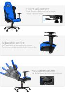 AROZZI Torretta XL Gaming Chair Blue (TORRETTA-XLF-BL)