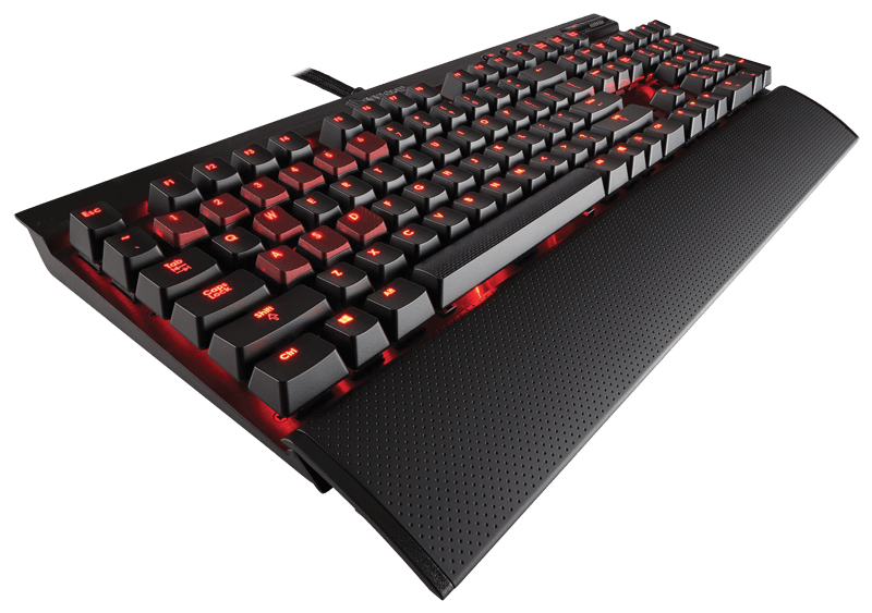 K70 Mechanical Gaming Keyboard Cherry MX Red, LED, Nordisk layout