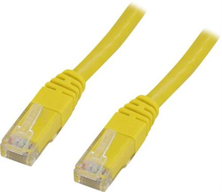 UTP Cat6 patchkabel 0,75m, gul