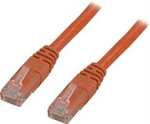 Deltaco UTP Cat6 patchkabel 0,3m, orange
