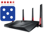 ASUS RT-AC88U Nordic Dual-Band Wireless-AC3100 Gigabit Router, Exclusive Built-In Game Accelerator (90IG01Z0-BU2000)