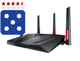 RT-AC88U Nordic Dual-Band Wireless-AC3100 Gigabit Router, Exclusive Built-In Game Accelerator